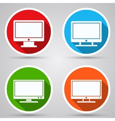 Computer monitor icons vector