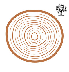 cross-section of a tree abstract ring vector image vector image