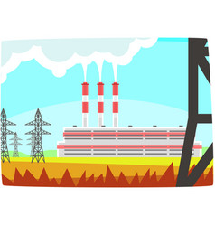 energy producing station electricity generation vector image