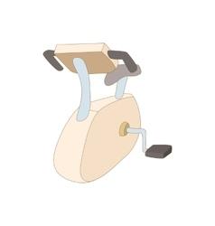 Exercise bike icon cartoon style vector