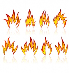 flame designs vector image