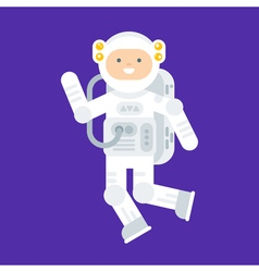 flat style of happy astronaut in space suit vector image vector image