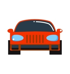 Generic red car front view design flat vector