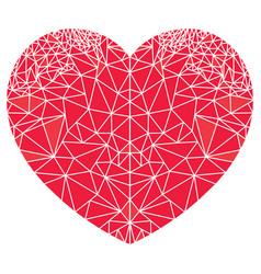Geometric polyart love heart shape vector