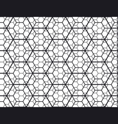 geometry line hexagonal seamless pattern vector image