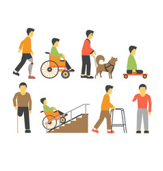 handicapped people with disability limited vector image vector image