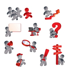Icons information men vector image vector image