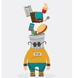 Mascot consumer vector image vector image