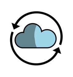 nice cloud weather with arrows around vector image