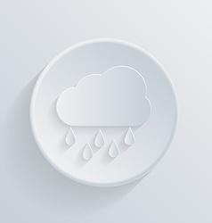 paper circle flat icon cloud rain vector image vector image
