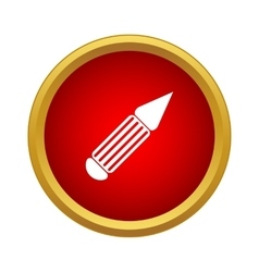 Pen icon in simple style vector image