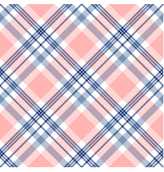 Plaid check pattern in navy blue pink and white vector