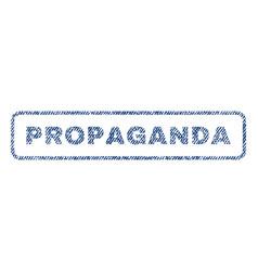 Propaganda textile stamp vector