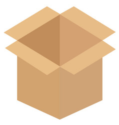 Recycle brown box vector