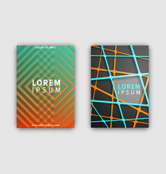 set of designed covers on vector image
