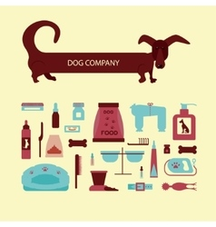 Set of sign dog accessories vector