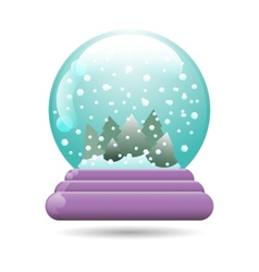 snow globe with a Christmas tree vector image