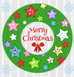 star wreath vector image vector image