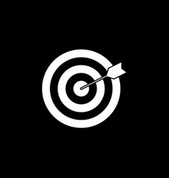 target keyword solid icon vector image vector image