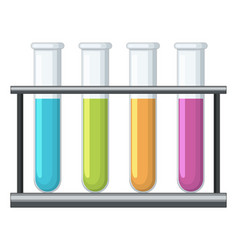 Testtubes with different chemical inside vector