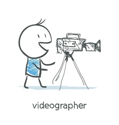 Videographer vector