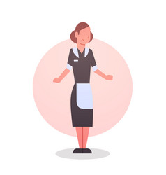 Woman waitress icon cafe or restaurant worker vector