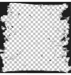Grunge border template vector image