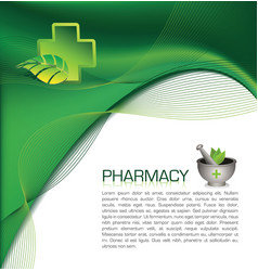 pharmacy brochure vector image