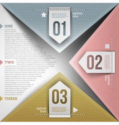Abstract infographic design vector image