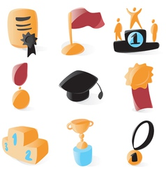 Smooth awards icons vector image