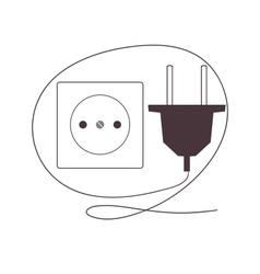Plug and socket vector image