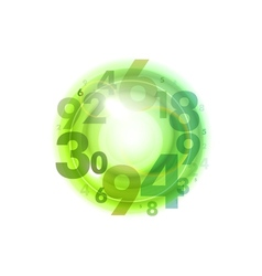 Numbers circle green vector