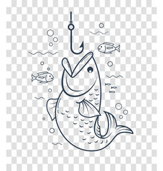 Icon fishing with an open mouth vector