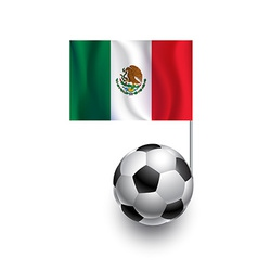 Soccer balls or footballs with flag of mexico vector