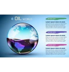 Glasses world oil stock background concept vector