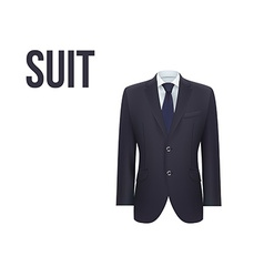 Suit isolated on white background vector