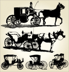 Carriage silhouettes vector