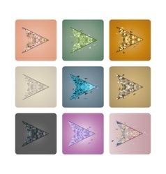 Set cursors of triangles vector