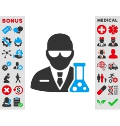 Scientist icon vector