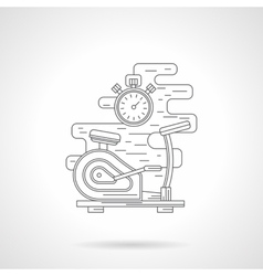 Exercise bike flat line icon vector