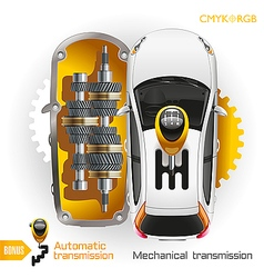 Car transmission vector