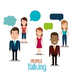 People talking design vector