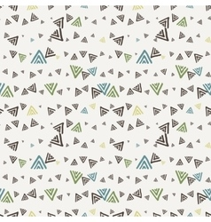 Seamless texture of hand-painted triangles vector