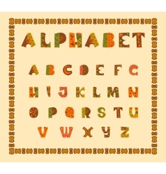 Alphabetic in ethnic african desision vector