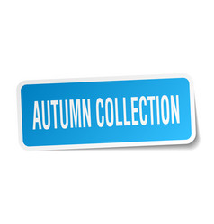 Autumn collection square sticker on white vector