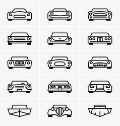 car front view vector image vector image