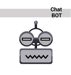 Cartoon robot face smiling cute emotion neutral vector