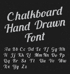 chalkboard hand drawn font poster vector image vector image