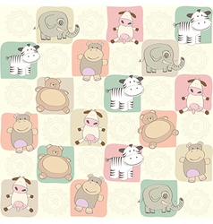 childish seamless pattern with toys vector image vector image