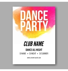 Dance Party Poster Template Night Dance Party vector image vector image